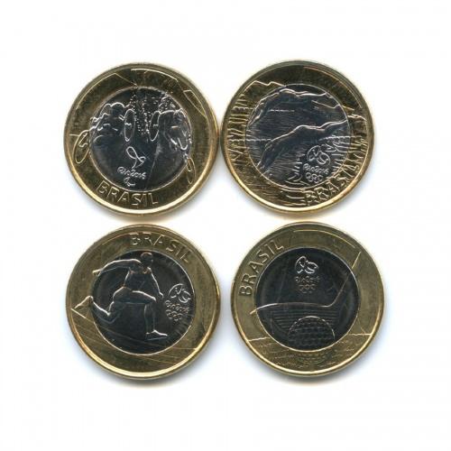 Набор монет 1 реал - XXXI летние Олимпийские Игры, Рио-де-Жанейро 2016 2014 года (Бразилия)