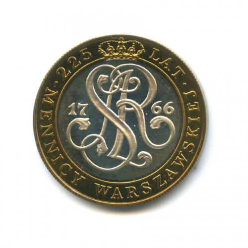 20000 злотых — 225 лет Варшавскому монетному двору 1991 года (Польша)