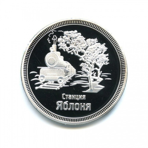 Жетон «1 рубль 2013 - 110 лет Китайско-Восточной Железной Дороге. Станция Яблоня»