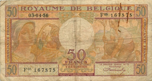50 франков 1956 года (Бельгия)