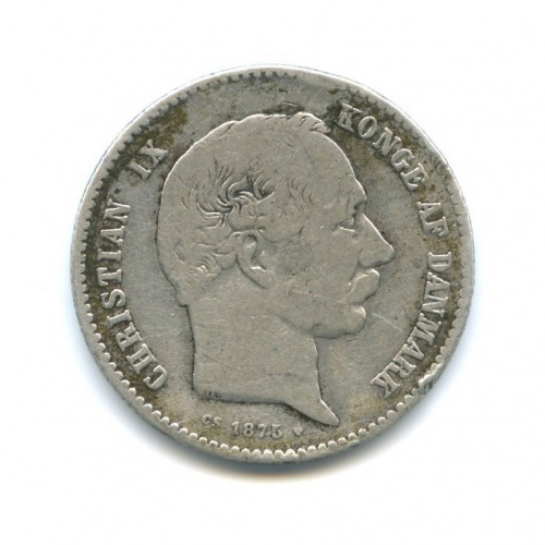 1 крона - Кристиан IX 1875 года (Дания)