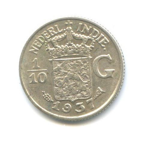 1/10 гульдена - Нидерландская Индия 1937 года