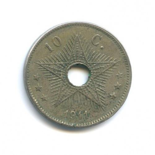 10 сантимов, Бельгийское Конго 1911 года