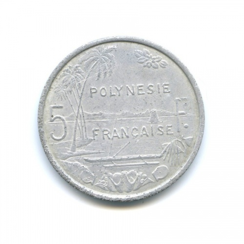 5 франков, Французская Полинезия 1975 года