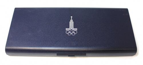 Футляр для монет «XXII Олимпийские игры, Москва 1980», синий (Германия)