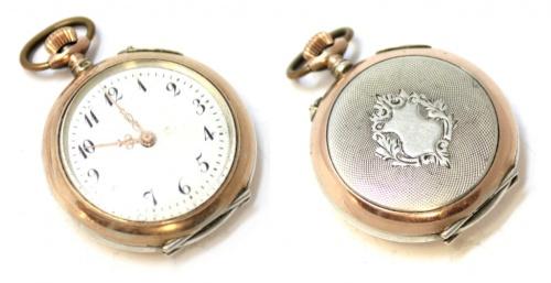 Часы карманные (клейма, 800 проба серебра, 3,2 см)