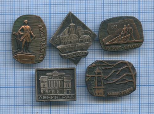 Набор значков «Города» (СССР)