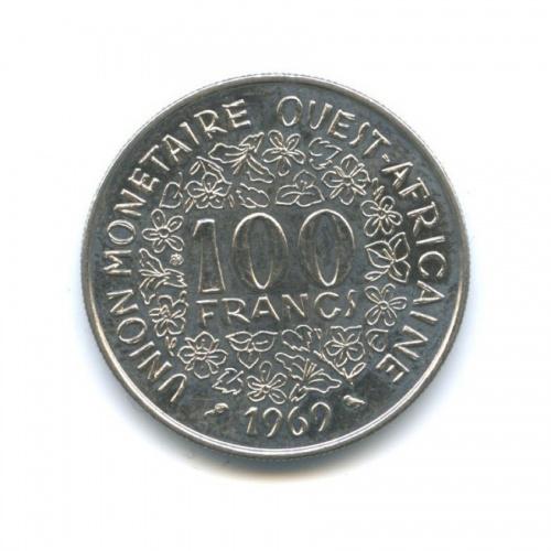 100 франков, Французская Западная Африка 1969 года