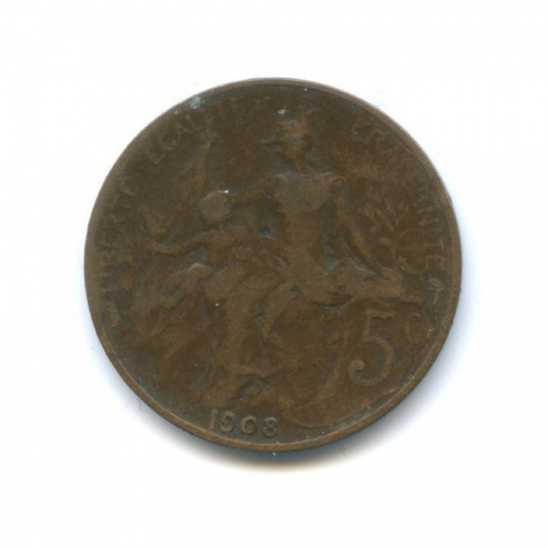 5 сантимов 1908 года (Франция)