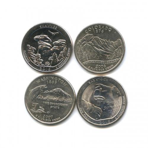 Набор юбилейных монет 25 центов (квотер) (США)