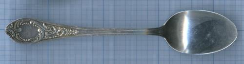 Ложка столовая (серебрение, клеймо «ЗIД», «МНЦ», дизайн Фаберже, 21 см)