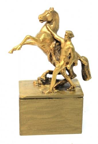 Фигурка скульптуры Петра Клодта «Укрощение коня» (латунь или бронза, 12,5 см)