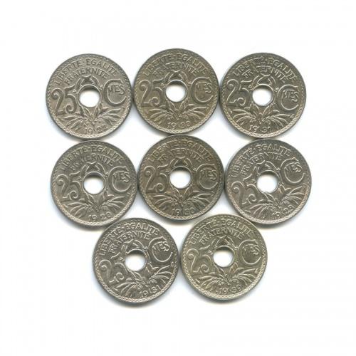 Набор монет 25 сантимов (Франция)