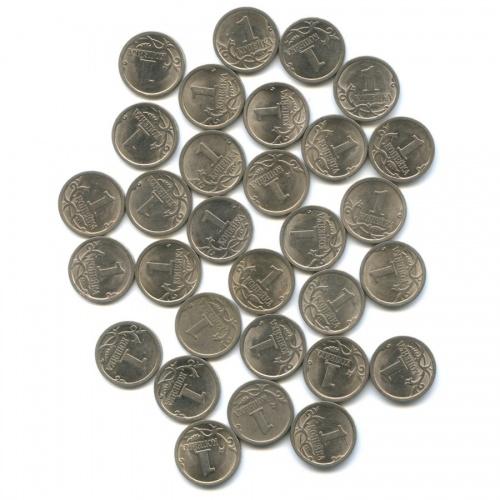 Набор монет 1 копейка (30 шт.) 2009 года С-П (Россия)