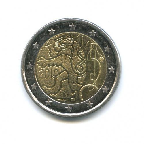 2 евро — 150 лет финской валюте 2010 года (Финляндия)