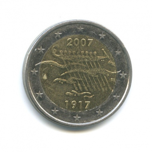 2 евро — 90 лет независимости Финляндии 2007 года FI (Финляндия)