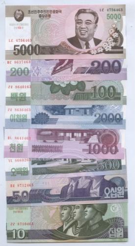 Набор банкнот (Северная Корея) 2002, 2008
