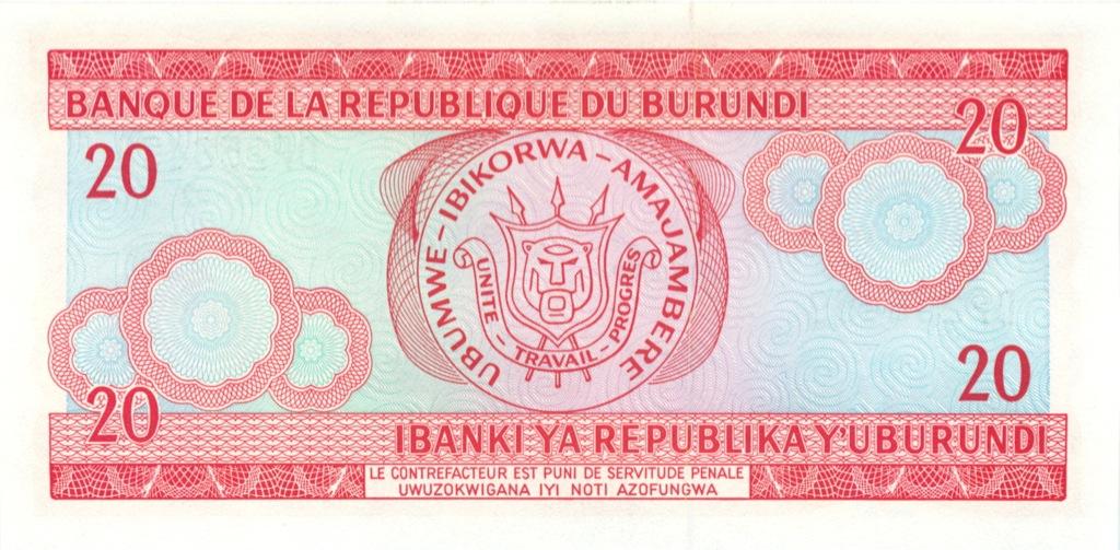 20 франков (Бурунди) 2005 года