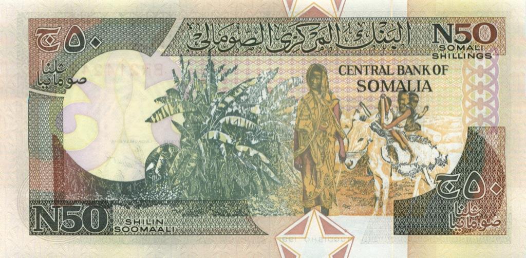 50 шиллингов (Сомали) 1991 года