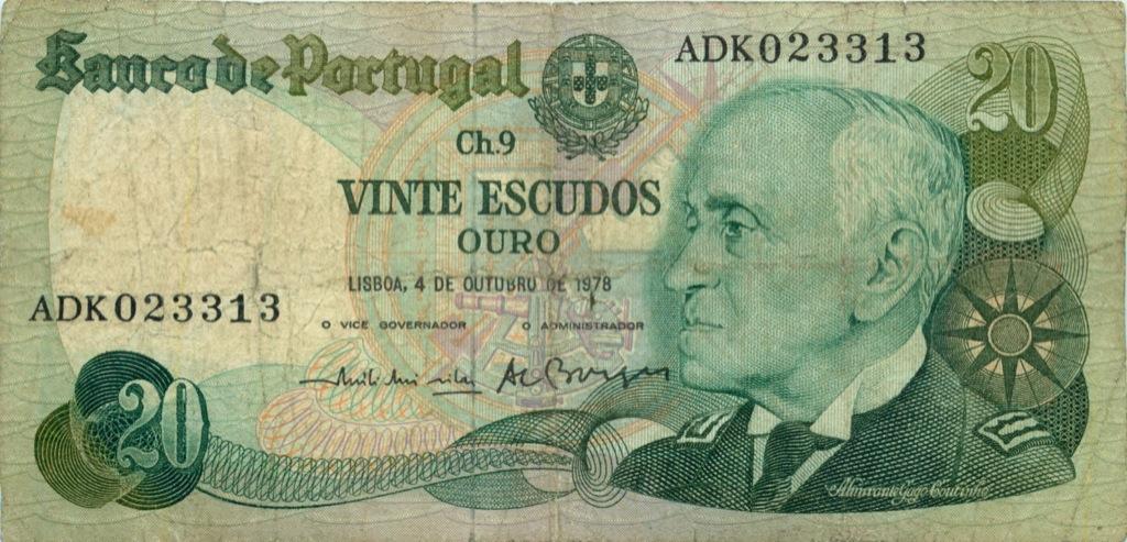 20 эскудо 1978 года (Португалия)