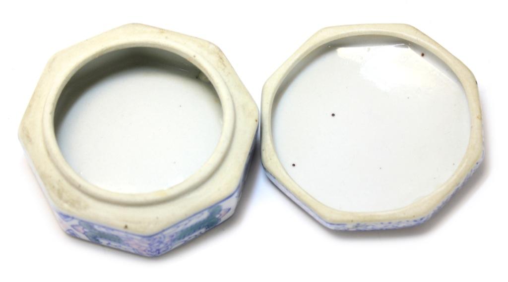 Шкатулка (фарфор, 4,5×9 см) (Япония)