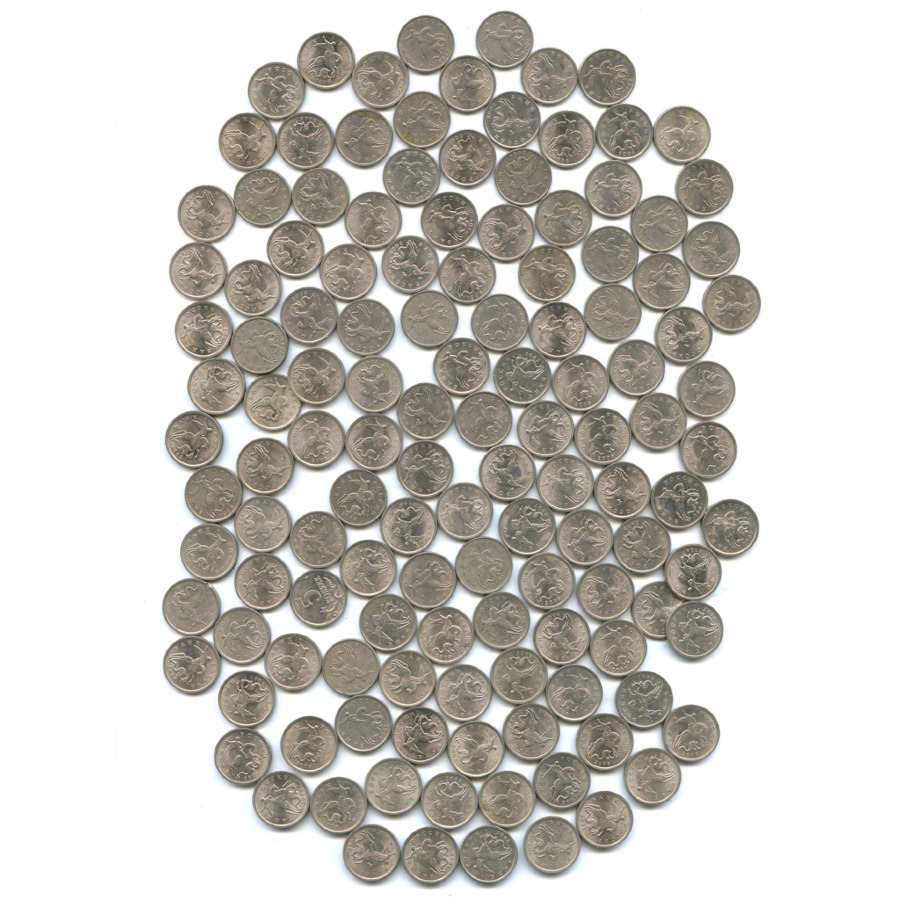 Набор монет 5 копеек (140 шт.) (Россия)