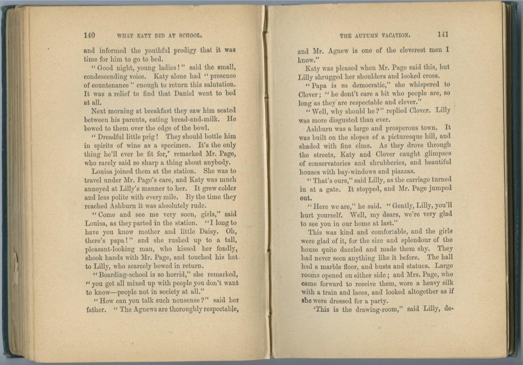 Книга Сьюзан Кулидж «Что делала Кейти вшколе», Лондон, 223 стр. (Великобритания)