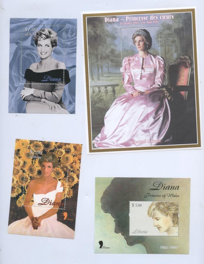 Набор почтовых марок «Принцесса Диана» (Либерия)