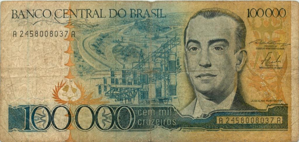 100 тысяч крузейро (Бразилия)