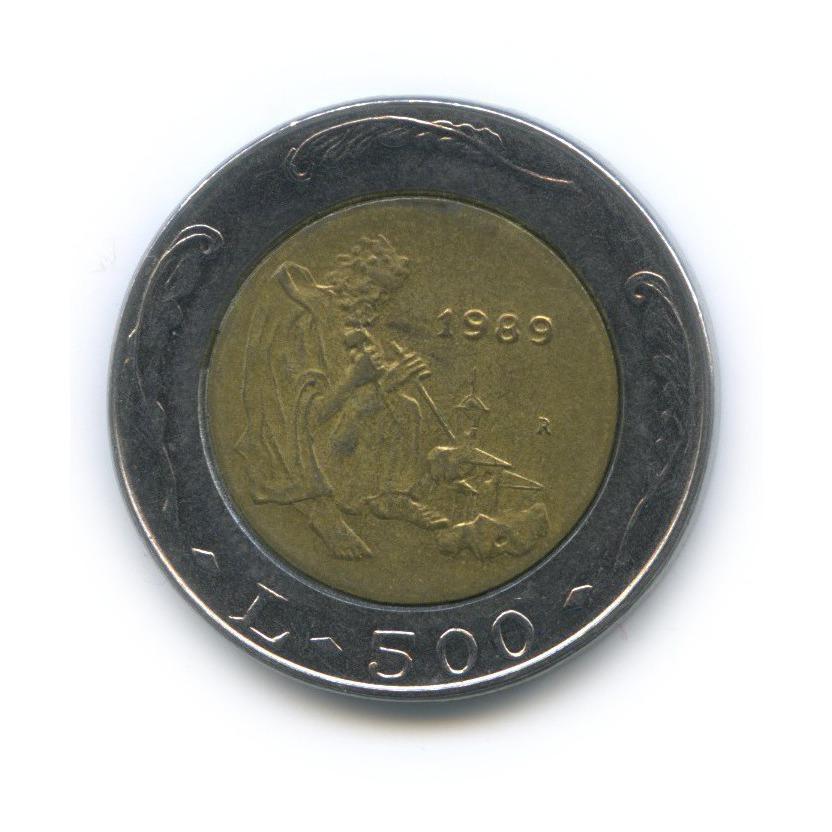 500 лир - Шестнадцать веков истории 1989 года (Сан-Марино)