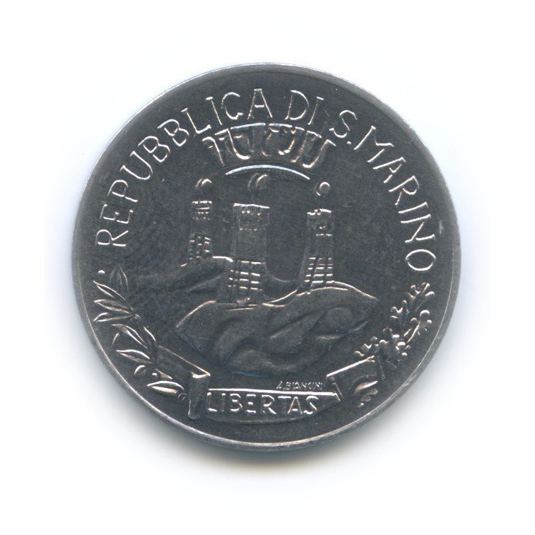 10 лир - Социальные достижения 1982 года (Сан-Марино)
