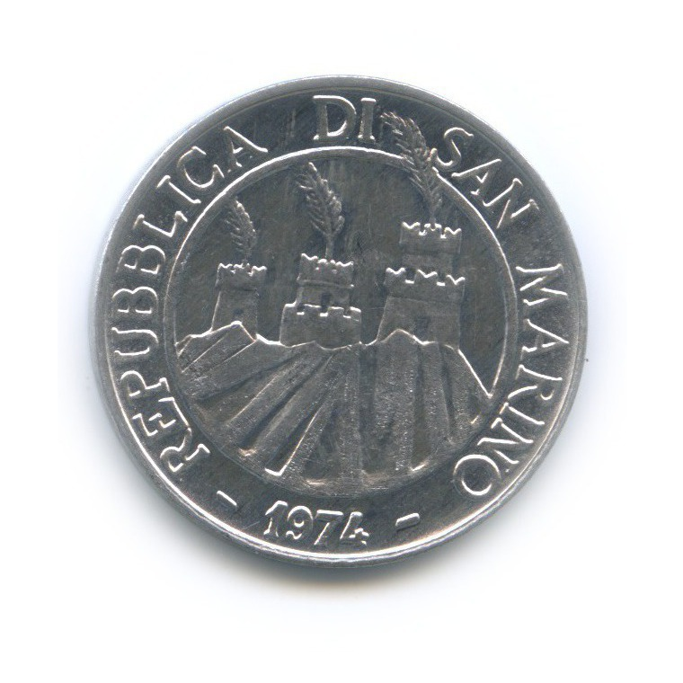 10 лир - ФАО 1974 года (Сан-Марино)