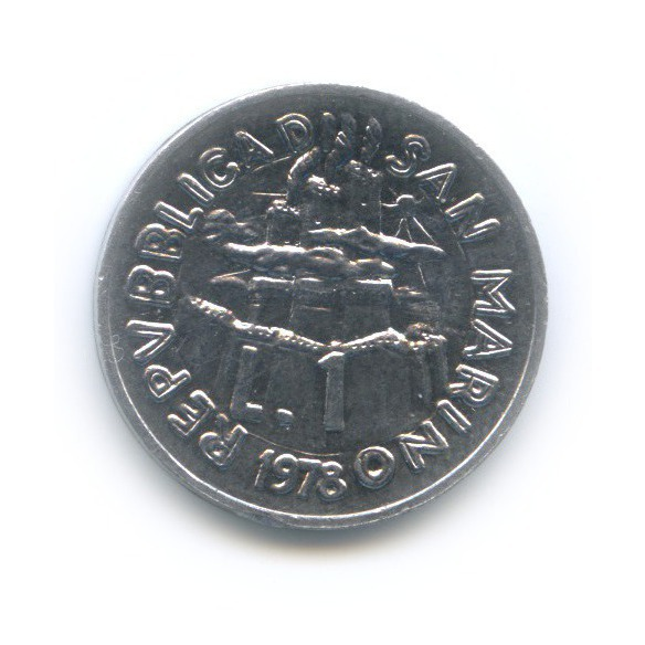 1 лира - Работа 1978 года (Сан-Марино)