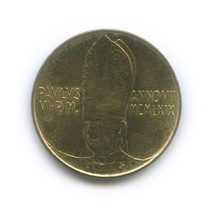 20 лир - Ангел 1969 года (Ватикан)