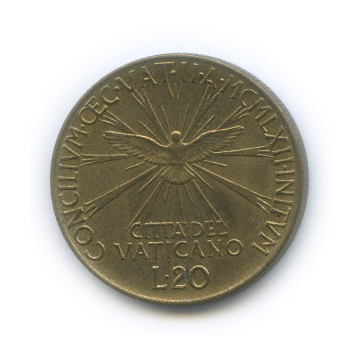 20 лир - Консилиум 1962 года (Ватикан)