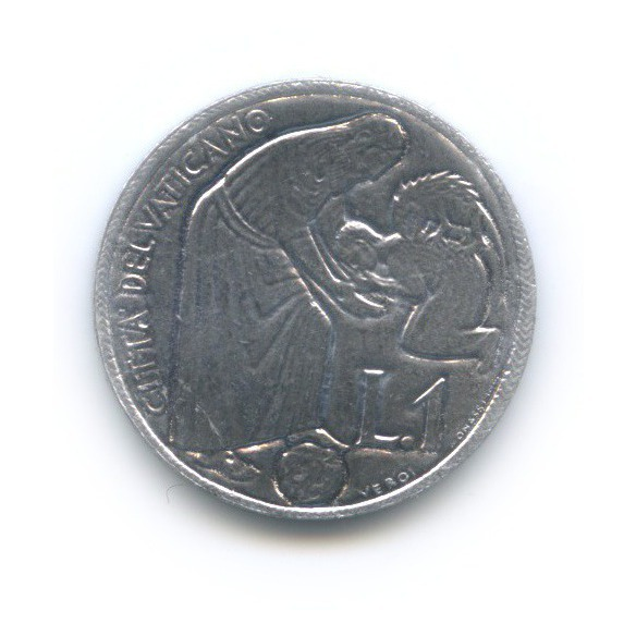 1 лира -  Святой год 1975 года (Ватикан)