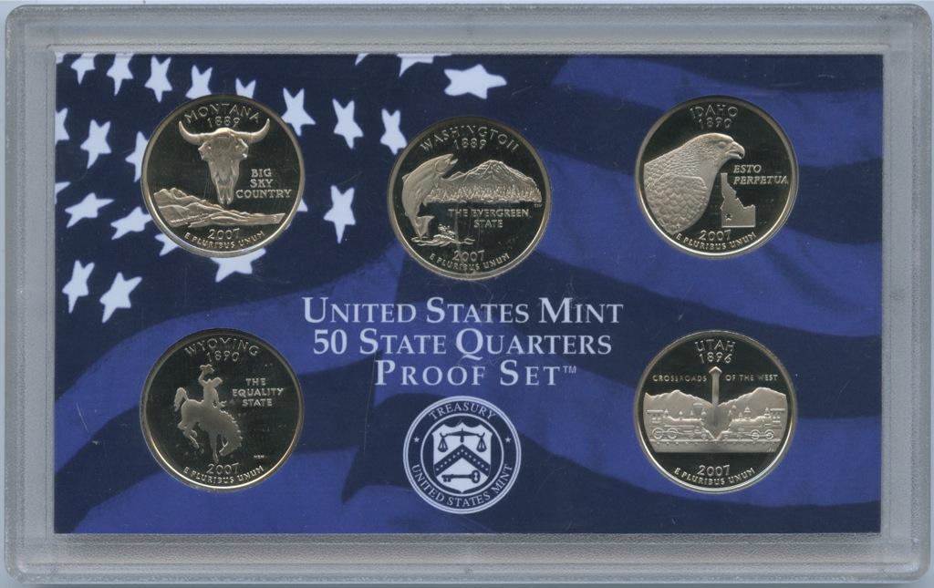 Набор монет 25 центов (квотер) - Штаты США 2007 года S (США)