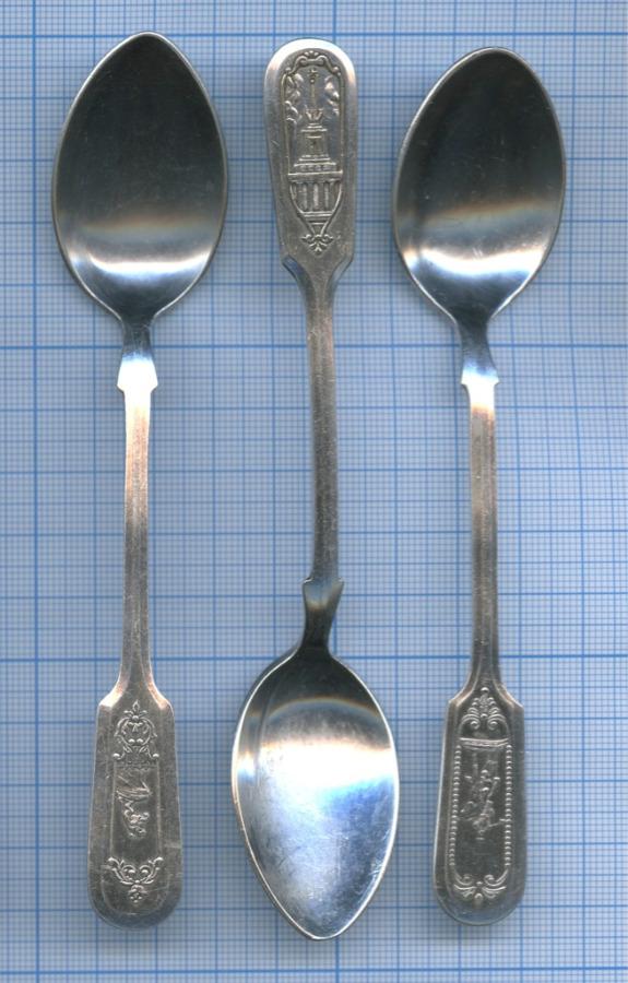 Набор чайных ложек «Ю. Долгорукий», «ВСХВ», «Медный Всадник» 1950-1960 (СССР)