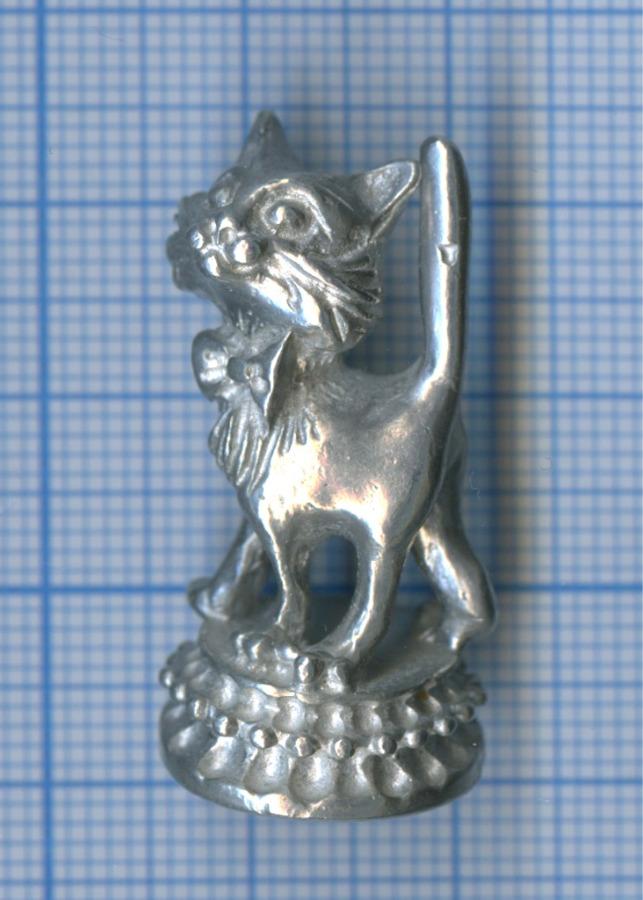Фигурка «Кошка», олово, 3,3 см