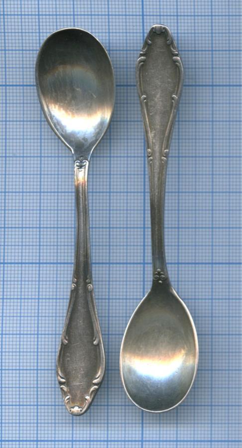 Набор кофейных ложечек (серебрение, клейма, «WELLNER», до1917 г.)