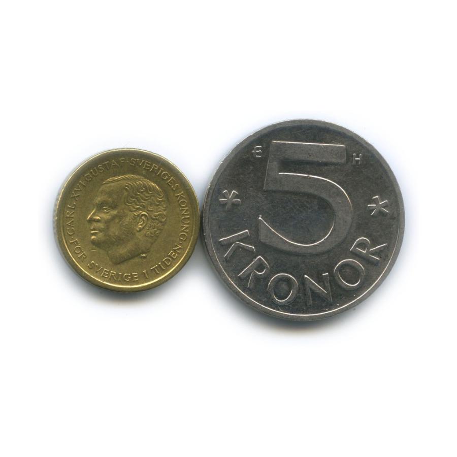 Набор монет 1991, 2005 (Швеция)