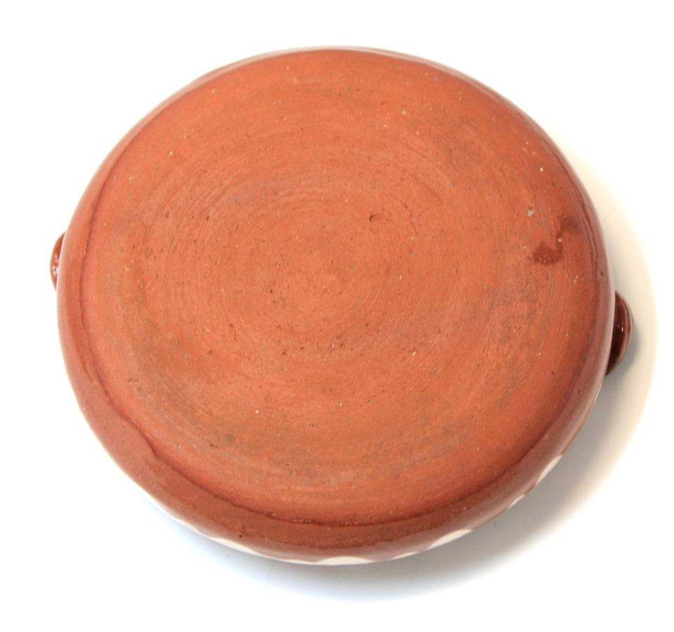 Пепельница карточная (обливная керамика, роспись, 8 см)