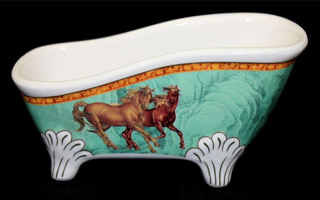 Лоток-подставка «Кони» (фарфор, «Elan gallery», 15,5 см) (Великобритания)