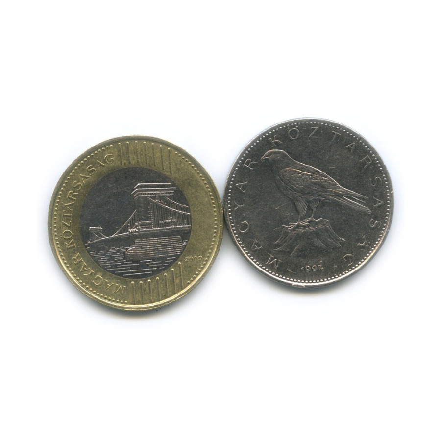 Набор монет 1995, 2009 (Венгрия)