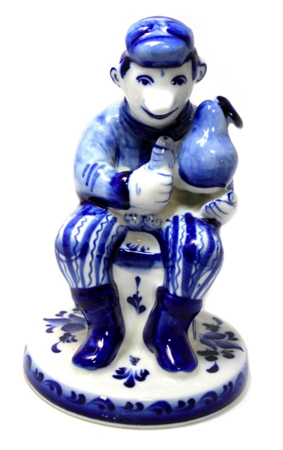 Фигурка (фарфор, гжель, «Галактика», 16,5 см) (Россия)