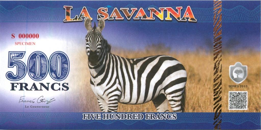 500 франков (Саванна) 2015 года