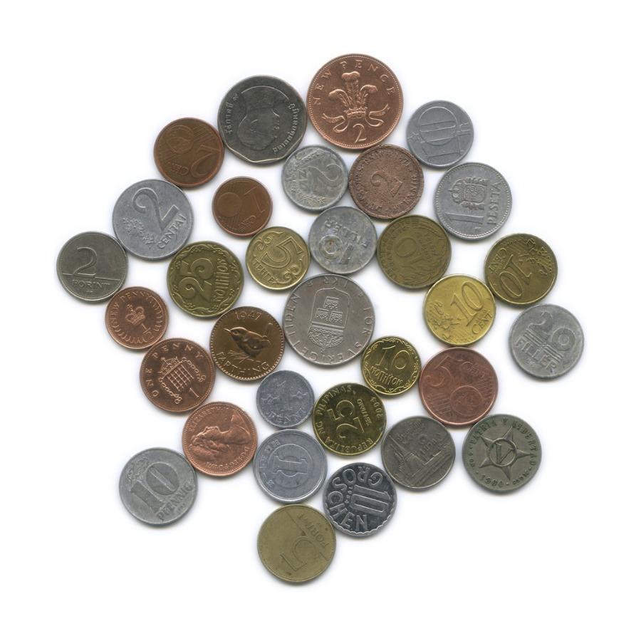 Набор монет (разные страны), 43 шт