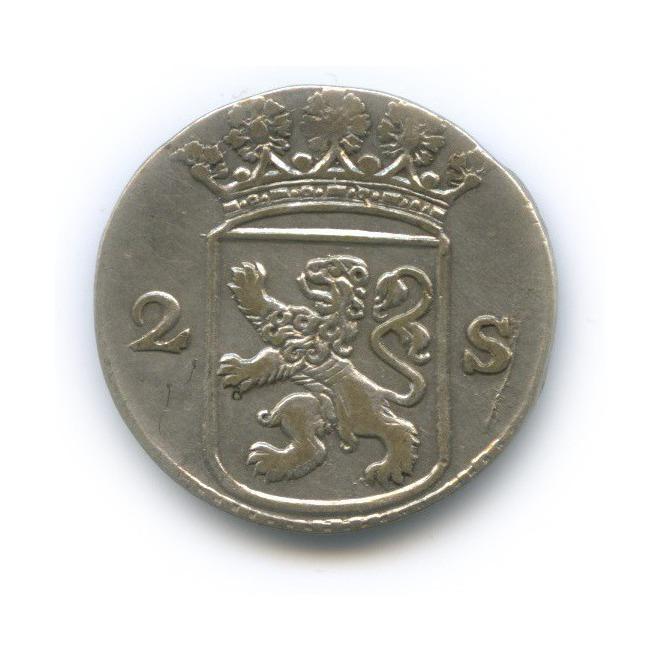 2 стивера - Голландия 1764 года