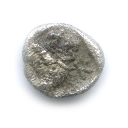Гемиобол - Мизия (Кизик), V в. до н. э., лев/кабан