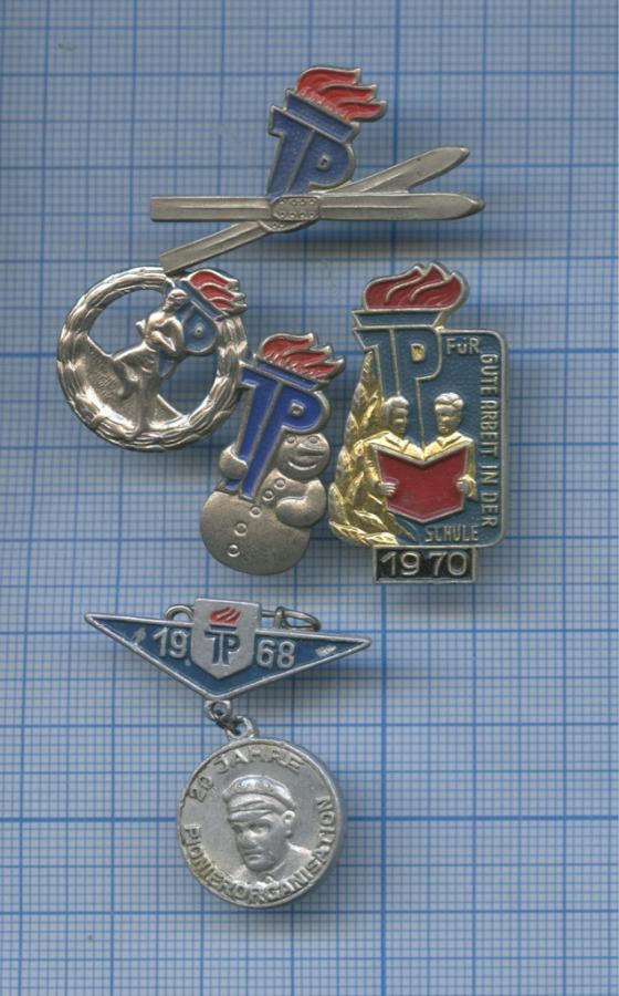 Набор значков «Пионерская организация имени Эрнста Тельмана» (Германия)